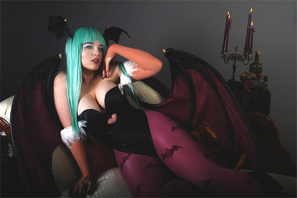 cosaddict:  Hands down…favorite Morrigan cosplayer. Check out more of my findings here.