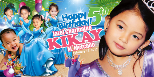 Happy Birthday Kikay! Had a hard time doing a Cinderella on beach layout! LOL