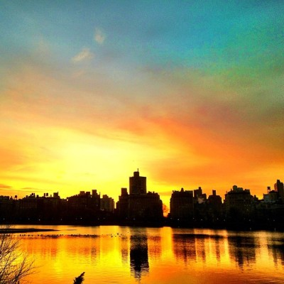 One more sunrise. #nyc #reservoir #centralpark #sky #sunrise #morning (Taken with Instagram at Central Park - Reservoir - North Gate)