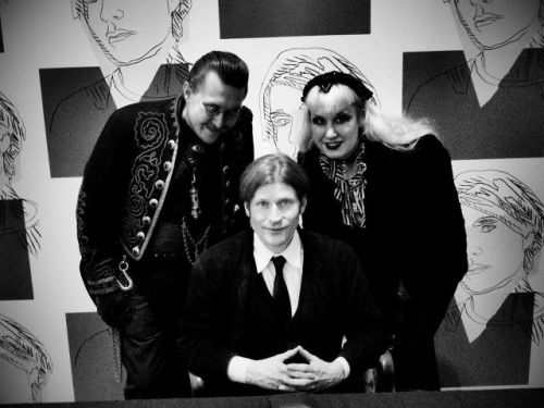 Mr Arm and Velda meet Crispin Glover.