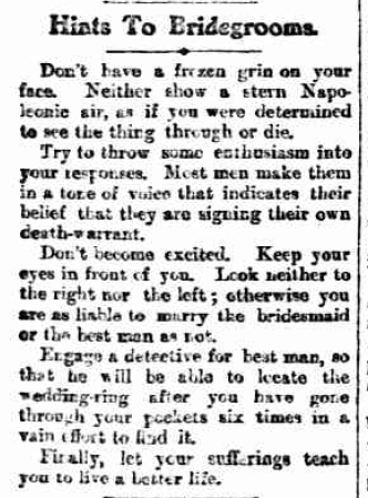 "questionableadvice:  ~ The Sunday Times; Perth, AU, February 28, 1904via Trove""Finally, let your sufferings teach you to live a better life."""