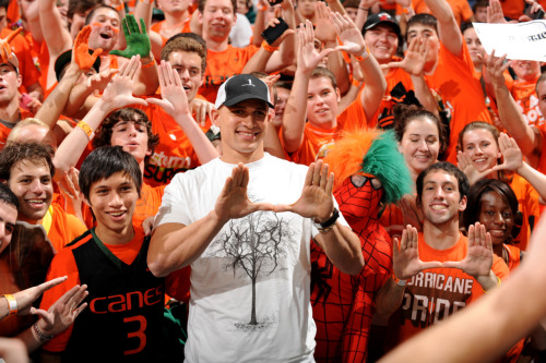 Thank you Canes fans & hoops alum/NFL Pro Bowler/BEAST Jimmy Graham