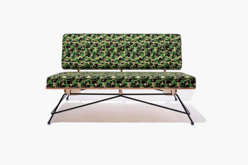 Bape X Meister Sofa, I had actually planned on buying an Eames one day and reupholstering it, but this is just plain better.