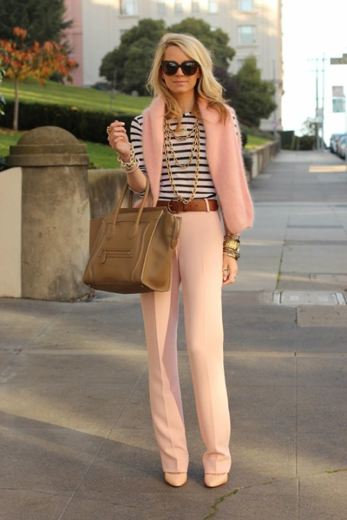 preciousdailyoutfits:  pink is chic