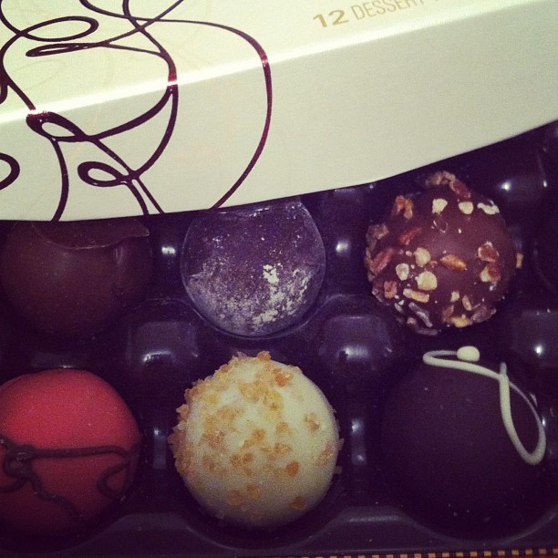 Chocolate truffles for breakfast with @rockuboff  (Taken with instagram)