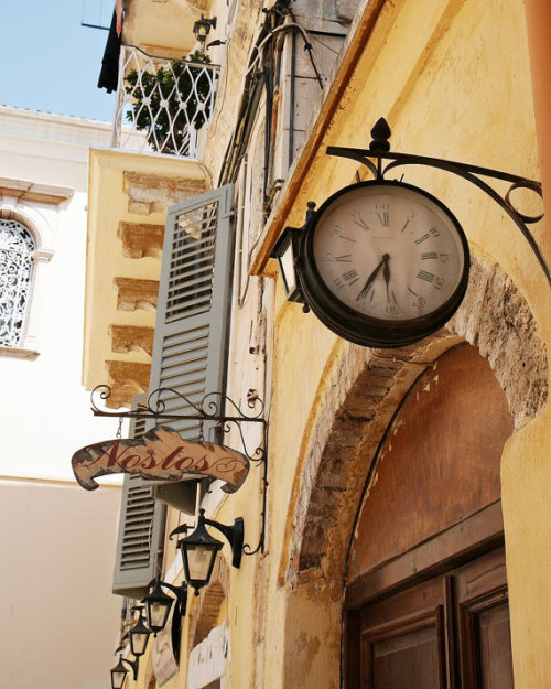 Vintage clock in Greece