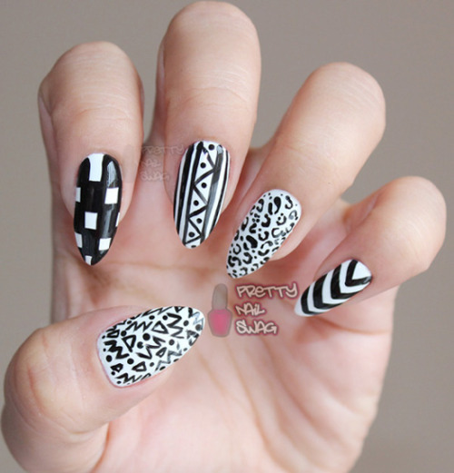 black+white after all the v-day mani's…