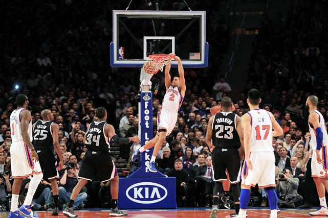 Knicks guard Landry Fields gets an easy bucket during last night's 100-85 victory over the Kings. The Knicks have emerged since point guard Jeremy Lin was inserted into the starting lineup and have won seven straight games. (Chris Trotman/Getty Images) VIDEO: Lin's sensational start | Ten breakout momentsROBSON: Hot Knicks shoot up in latest Power Rankings