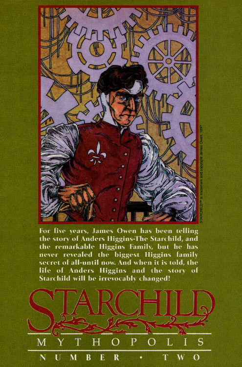 Solicitation image for Starchild: Mythopolis #2 by James A. Owen, 1997.