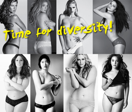 "SIZE diversity VIA Style has No Size  ""On this picture you see some gorgeous women. The upper layer gorgeous sizes 34/36 and the lower all beauties in sizes 40/42. I think the new generation is ready to see both… and that's why we want to see a mix of sizes.. A mix of straight size and inbetweenies… are you ready? Is the fashion world ready?"" And for those of you who think this isn't diverse enough, we've gotta start somewhere. When I was a straight sized model I was 70 pounds less than I am now (pictured bottom right). You heard me, 70."
