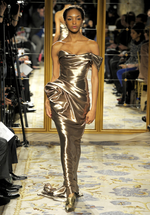 blackandkillingit:  labellefabuleuse:  Jourdan Dunn on the runway for Marchesa, Fall 2012  @BGKIonline #BGKI Black Girls Killing It Rewards & Giveaways