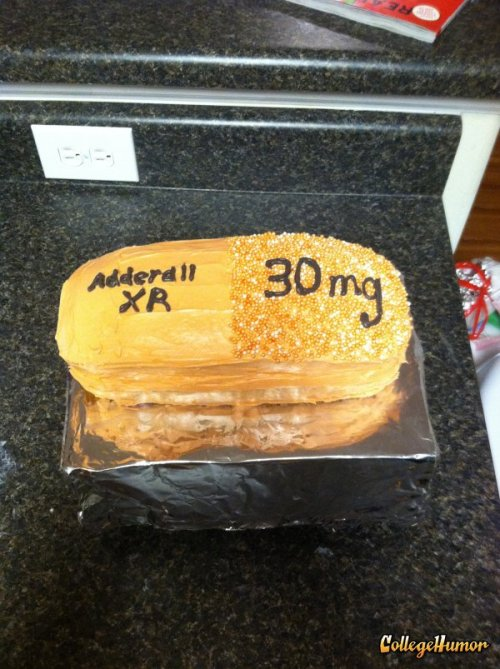 Adderall Cake   Nothing will ever get you more focused than the prospect of cake.