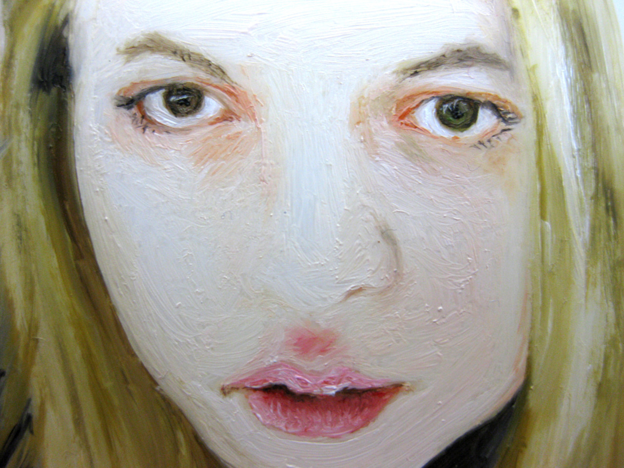 Close up of another work in progress, once again it is the hair that is taking up all my time!