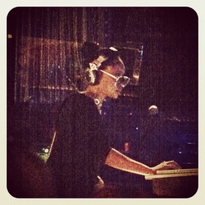 mykoremedia:  DJ Lo Down Loretta Brown (Erykah Badu) spinning @ Grammy Glam  via PhotoToaster, using these settings.
