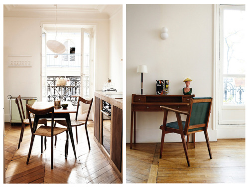 tarafirma13:  The home of Caroline Delaudes. Paris. via Style-files