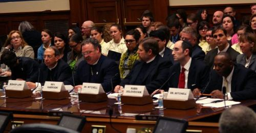 "noraleah:  joyengel:  This is a photo of the ""experts"" currently testifying to Congress about birth control and women's health.  What's missing from this photo?  Fuck this shit I'm going to get some chocolate.  And I need some Daily Show therapy."