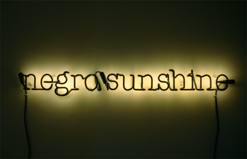 fresh-ink-linen:  Negro Sunshine by Glenn Ligon