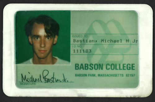 Michael Bastian: The College Years We sat down with the designer prior to the Fall 2012 Gant by Michael Bastian presentation to find out why he's going back to school this season, and what he simply can't live without. Also, we managed to snag his college ID card. Blackmail. Read the full interview here.