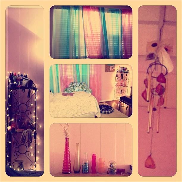 Collage of some of my favorite parts of my room. Used pixlromatic, Instagram, and frametastic.