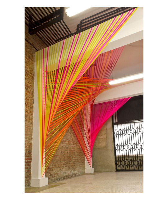 versejewelry:  neon string installation by Megan Geckler