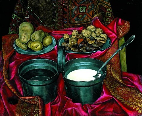 Mati Klarwein Still Life with Milk and Water 1956