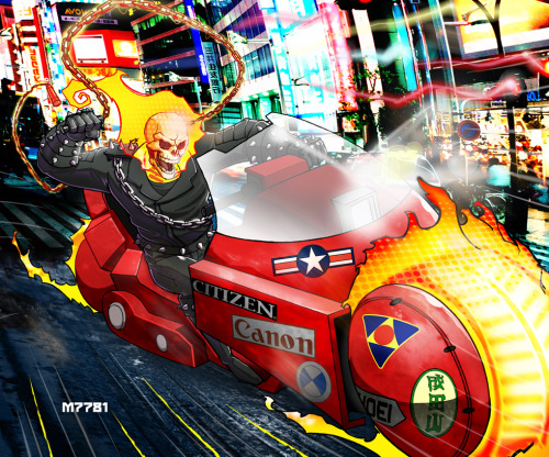 herochan:  Ghost Rider/Akira Mash Up Created & submitted by M7781  deviantART || Tumblr