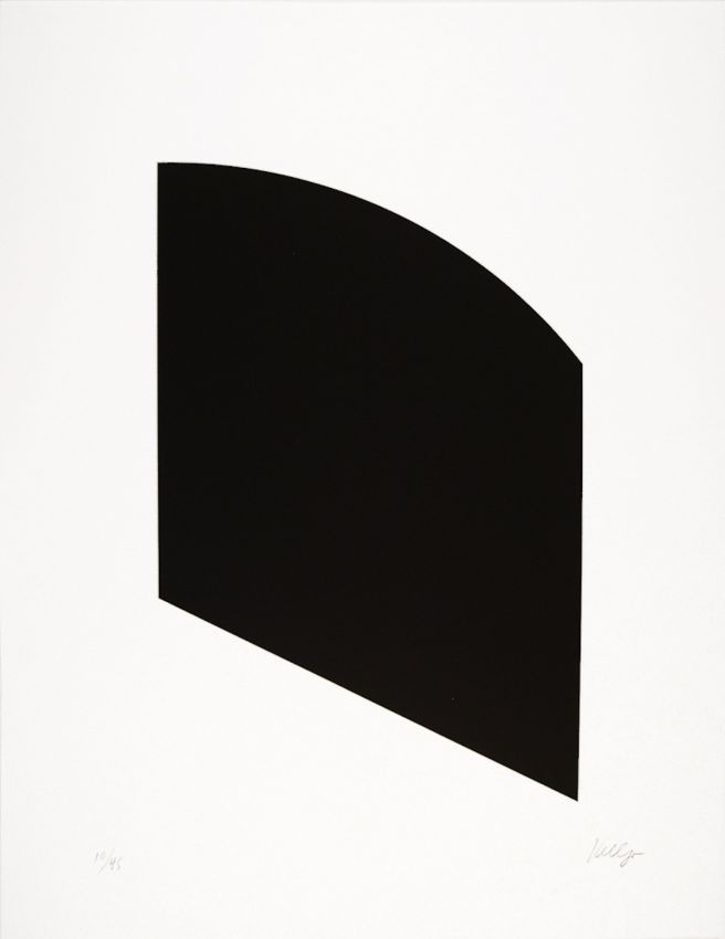 Ellsworth Kelly    [+] Black, 2003 1 color lithograph 29 x 22 3/8 inches Edition of 45