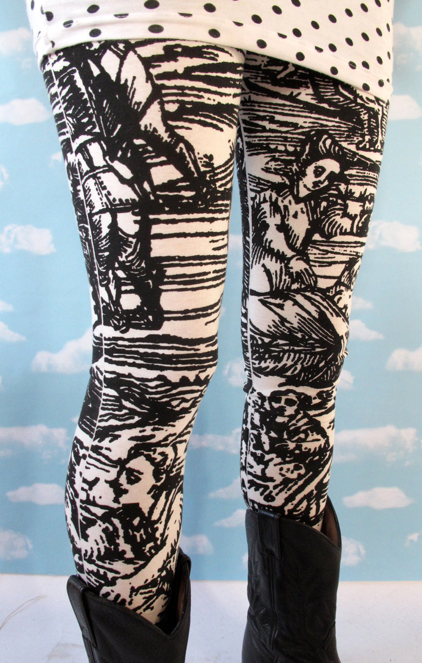 WHITE WITCH leggings back in stock at Pretty Snake's Etsy store! http://www.etsy.com/shop/PrettySnake