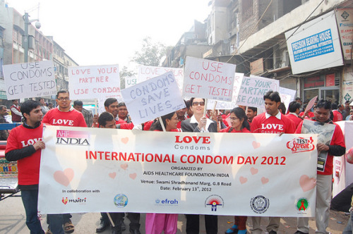 Use condoms, get tested, and #playsafe! Happy International Condom Day from AHF India Cares :)