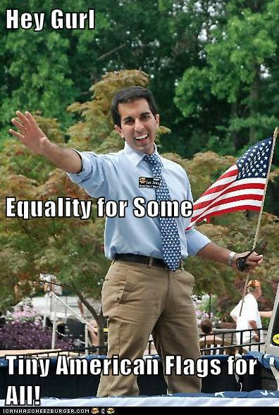 Hey gurl. Equality for some. Tiny American flags for All!