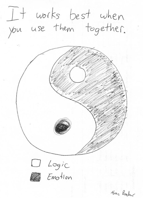 Logic + Emotion, like Yin and Yang