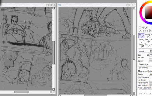 dhampyr-comic:  Here we have started sketching a couple of pages and some of the main characters design.