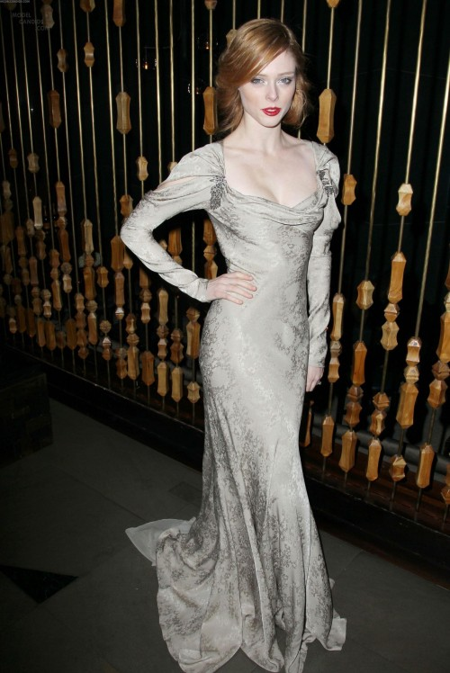"I didn't catch this image in December, when Coco Rocha wore this Zac Posen dress to ""The Iron Lady"" premiere. But it's a marvel. Downton Abbey meets Zelda Fitzgerald meets Katharine Hepburn at a supper club, and turns every head in the room. I fell in love too."