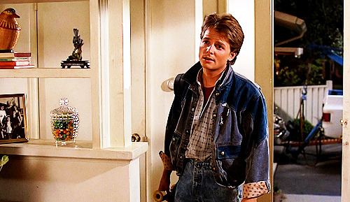 "Michael J. Fox had always been the first choice for Marty, but he was unavailable due to scheduling conflicts with his work on Family Ties. As ""Family Ties"" co-star Meredith Baxter was pregnant at the time, Fox was carrying a lot more of the show than usual. The show's producer Gary David Goldberg simply couldn't afford to let Fox go. Robert Zemeckis and Bob Gale then cast Eric Stoltz as Marty based on his performance in Mask. After four weeks of filming Zemeckis and Gale felt that Stoltz wasn't right for the part and Stoltz agreed. By this stage, Baxter was back fully on the show and Goldberg agreed to let Fox go off to make the film. Fox worked out a schedule to fulfill his commitment to both projects. Every day during production, he drove straight to the movie set after taping of the show was finished every day and averaged about five hours of sleep. The bulk of the production was filmed from 6pm to 6am, with the daylight scenes filmed on weekends. Fox found it exhausting, but ""it was my dream to be in the film and television business, although I didn't know I'd be in them simultaneously. It was just this weird ride and I got on."" Zemeckis concurred, dubbing Back to the Future ""the film that would not wrap."" He recalled that because they shot night after night, he was always ""half asleep"" and the ""fattest, most out-of-shape and sick I ever was."""