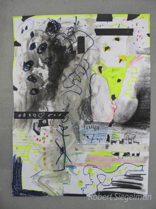 Drawing with Figure Mixed Media 24x18 inches Vermont Studio Center February 16, 2012