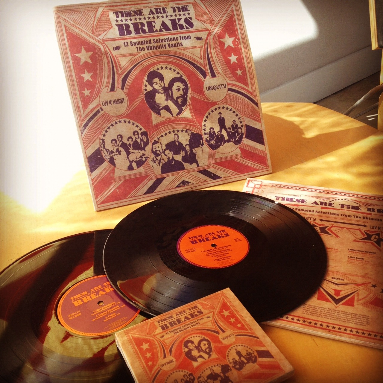 "Now Available for Pre-Order: These Are The Breaks, A collection of 12 original tracks from the Luv N' Haight and Ubiquity catalogs that have been sampled by well-known artists ranging in diversity from Beyoncé, Beck, Lupe Fiasco and J Dilla. Click here to Pre-Order, use coupon code ""EARLYBIRD"" to save 15%."