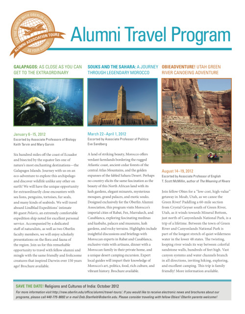 kristinadeckert:  Travel ad for the Oberlin Alumni Magazine Fall 2011 issue.
