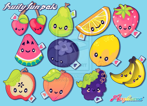 explodeattack:  Fruity Fun Pals by =acrylicana