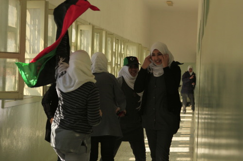 Feb16th Tripoli Libya Libya Hurrah: All girls school celebrations NazihaArebi:photos