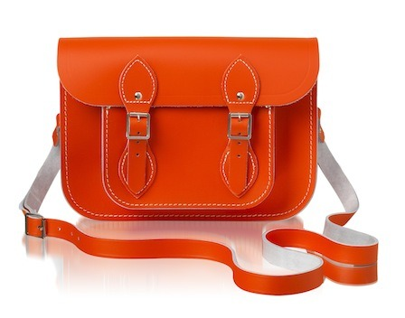 glamour:  It Bag + It Color! Behold the limited edition Cambridge Satchel in Tangerine Tango.  꺅