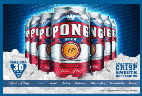 laughingsquid:  Pong Beer, Beer Made for Playing Beer Pong