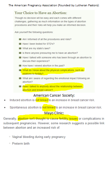 iamnotakangaroo:  Please stop the American Pregnancy Association (APA) from spreading its blatant unfounded lies. A foundation for prenatal education that doesn't provide accurate information regarding abortion (or any information, as this was the entire abortion section) is unstable and intentionally keeps women in the dark. The APA has a blatant pro life agenda.