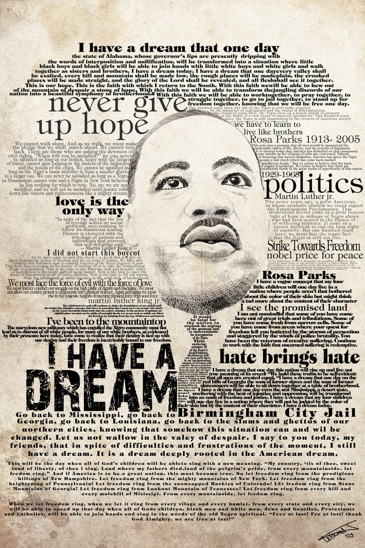 t2cd:  These Martin Luther King inspired graphic designs are very cool. Found these on You the Designer To view more of the amazing pics click the pic to the left.