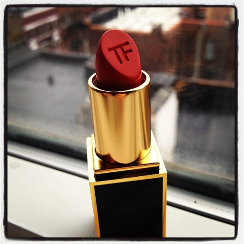 Tom Ford Beauty sent me some amazing products to try including this perfect Wild Ginger red. It's so pretty I almost don't want to use it. Almost.  (Taken with instagram)