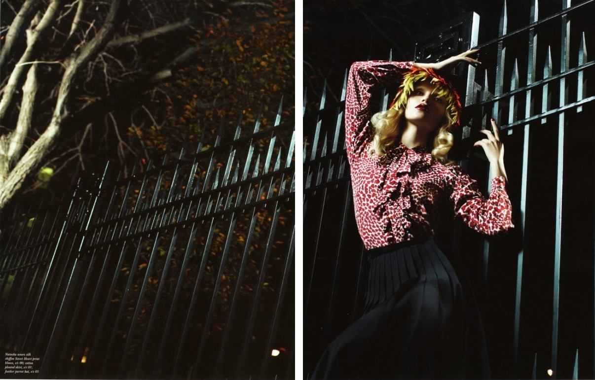 City in the darkness… beautiful @Poly_Natasha the new @TheLoveMagazine shot by Willy Vanderperre…  check her out!
