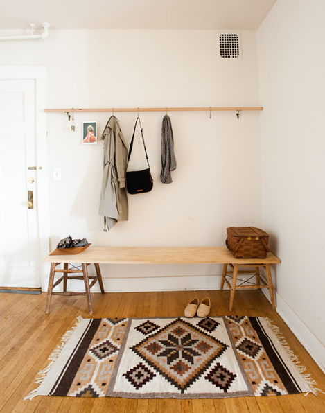 theblackworkshop:  Minimalist DIY Entryway