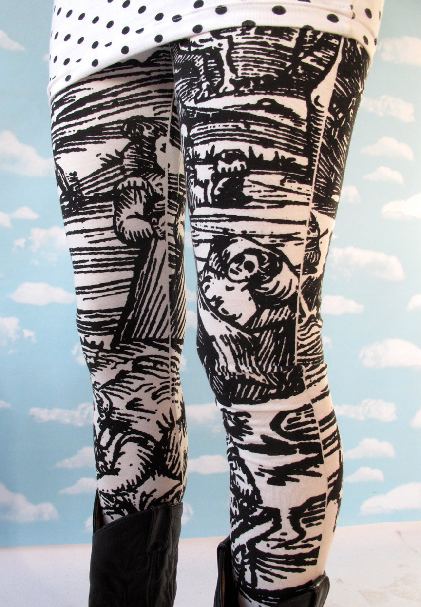 the return of the White Witch leggings! at Pretty Snake http://www.etsy.com/listing/93142845/white-witch-leggings-large