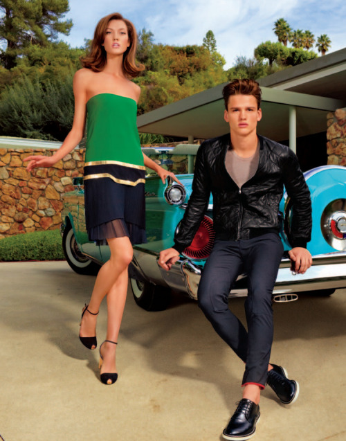 Simon Nessman and Karlie Kloss wearing Gucci - Americana Manhasset S/S 2012 lookbook