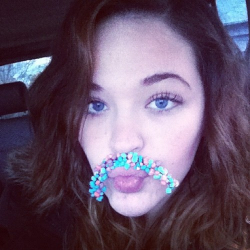#me #nerd #nerdsrope #mustache #silly #blueeyes #instagram #ig #igdaily #iphone #love #candy #silly  (Taken with instagram)