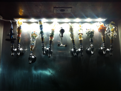 Awesome beer taps made by JD Lang at Hammerheads. Art is everywhere.  Posted by Katie and Raegan.